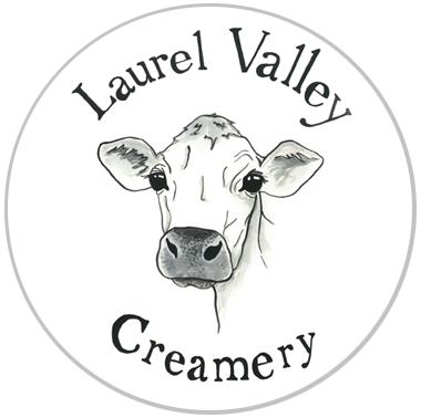 laurel valley creamery logo in circle