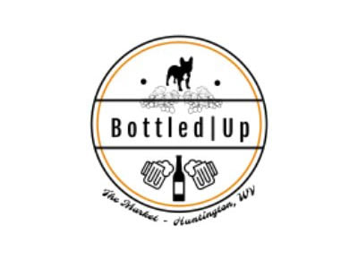 logo - bottled up in huntington, wv